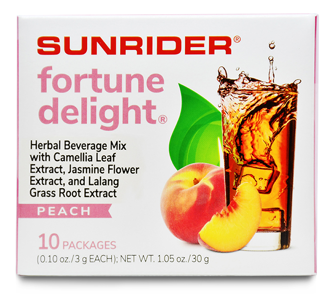 FORTUNE DELIGHT<sup>®</sup> PEACH (10/3g packs)