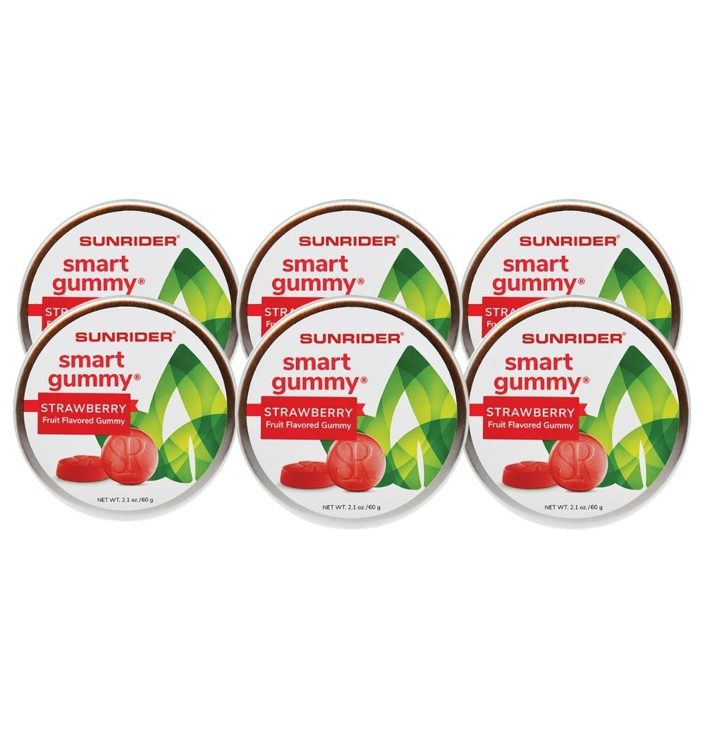 SMART GUMMY® STRAWBERRY (6/2.1 oz. tins)